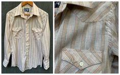 Wrangler Pinstripe Shirt Single Needle Tailoring Button Down | Etsy Vintage Shirts, Vintage Men, Vintage Outfits, Button Downs, Button Down Shirt, Butterfly Kids, Wrangler Shirts, Kids Apron, Vertical Stripes
