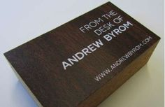 Andrew Byrom's Business Cards are Pieces of his Old Desk #businesscards #design trendhunter.com