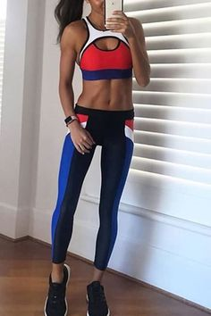 Womenss High Waist Heart Patchwork Fitness Running Yoga Pants Leggings Idingding Yoga Capris