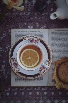 Tea with lemon, and Huckleberry Finn. THE PERFECT AFTERNOON.