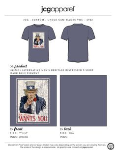JCG Apparel : Custom Printed Apparel : Chi Omega Bid Day T-Shirt #chiomega #chio #xo #bidday #recruitment #unclesam #wewantyou #gochio