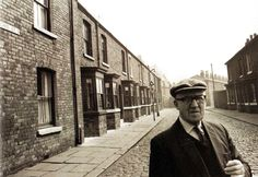 Alf Kirvin, aged 74, a resident of Archie Street, Salford, Lancashire. The street inspired the setting of television soap opera 'Coronation Street', and was reproduced in the television studios - UK - 15 May 1967