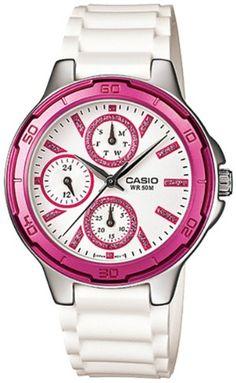 Casio Womens White Resin Quartz Watch with White Dial f8c5e08e57