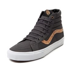 Pin down your skate style with the Sk8 Hi Skate Shoe from Vans! This Vans Sk8 Hi Skate Shoe features a hi-top style inspired by the Old Skool Sneaker design, with breathable canvas uppers, cork printed side stripe, and supportive padded ankle.