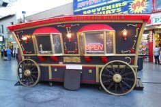 Fortune teller wagon on Fremont Street.