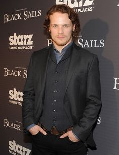 "Ohh dear... Sam Heughan Photos - Premiere Of Starz Original Series ""Black Sails"" - Arrivals - Zimbio"