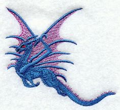 Flying Dragon design (M1627) from www.Emblibrary.com