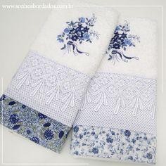 Nova Coleção. Faça seu pedido por e-mail: sonhosbordados2@gmail.com #toalha #bordada #lavabo #sonhosbordados