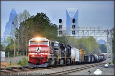 NS 911 is on the point of Atlanta bound 119 as it heads south through Charlotte Junction on the Piedmont Division in Charlotte, NC - 3/20/16