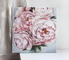 48 Ideas Nature Paintings Oil Canvases For 2019 Oil Painting Flowers, Watercolor Flowers, Watercolor Paintings, Oil Paintings, Nature Paintings, Art Oil, Flower Art, Art Projects, Canvas Art