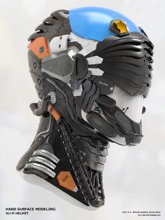 Sci-Fi Helmet by Satoshi Nakamura