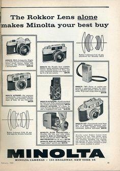 Minolta Cameras 1960 by Nesster, via Flickr