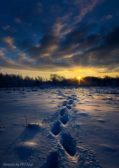 Snow Trek Art Print by Phil Koch. All prints are professionally printed, packaged, and shipped within 3 - 4 business days. Landscape Photos, Landscape Paintings, Winter Scenery, Winter Sky, Winter Photos, Sand And Water, Winter Beauty, Natural Wonders, Winter Wonderland