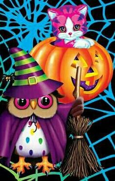 Fall Halloween, Happy Halloween, Cartoon Posters, 80 Cartoons, Cartoon Owls, Lisa Frank Stickers, Saturday Morning Cartoons, 90s Childhood, Halloween Pictures