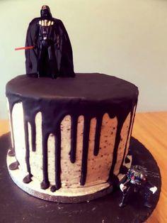 Star Wars Darth Vader Oreo chocolate drip cake
