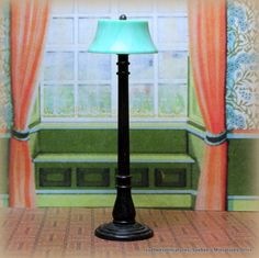 """Ideal Beautiful Lamp Vintage Dollhouse Furniture Accessory 3 4"""" Fits Renwal 