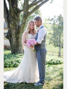 Kelly is radiant wearing Sophia Tolli Robin - Style Y11554 - a beaded lace and tulle wedding dress with plunging keyhole back