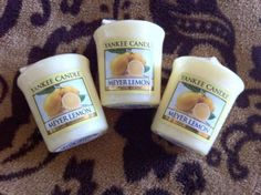 "Yankee Candle Votive Set ""Meyer Lemon"" Lot Of 3 New Candles"