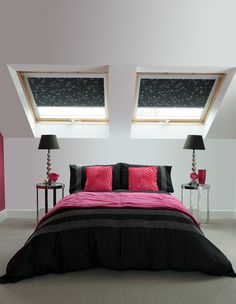 DIM OUT Blinds The sky's the limit with The Fabric Box roof blinds. Choose from pattern to plain, colourful to neutral and blackout to dim out roller blinds to add personality to your roof. #ReflectionGraphite