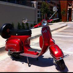 Vintage ride...1966 Vespa