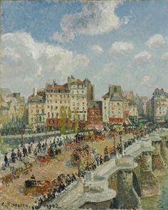 Claude Monet, Georges Seurat, Paul Cezanne, Camille Pissarro Paintings, Pissaro Paintings, Pont Paris, Kunsthistorisches Museum, Paris Painting, Gustave Courbet