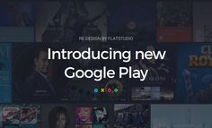 Google is a big ecosystem with hundreds of different services redesigned by Flatstudio, Lisbon, Portugal.