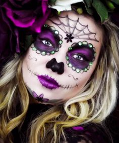 16 Last-Minute Halloween Costumes That Only Require Makeup. Sugar Skull ...  sc 1 st  Pinterest & Day of the Dead Sugar Skull Costumes | Body Art | Pinterest | Sugar ...