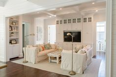 White living space.