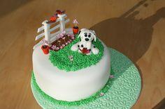 Dalmation Birthday cake