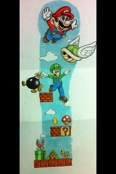mario on pinterest nintendo couples matching tattoos and super mario bros. Black Bedroom Furniture Sets. Home Design Ideas