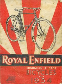 Vintage Royal Enfield (Bicycles ) advertising love the used aspect of the paper Velo Vintage, Vintage Cycles, Vintage Bikes, Vintage Ads, Vintage Posters, Old Bicycle, Bicycle Art, Bicycle Design, Royal Enfield