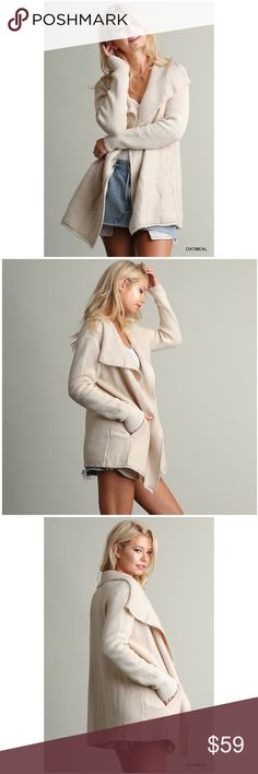 🆕 Oatmeal Open Cardigan Open front cardigan in oatmeal. Made of high quality material and is just the softest cardigan to wear. Item has 2 front pockets and is perfect for that sophisticated finish on your every outfit while keeping you warm. Jackets & Coats