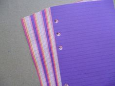 Lined Notepaper inserts - Personal Filofax or Organiser - pink and purple op Etsy, 3,12 €