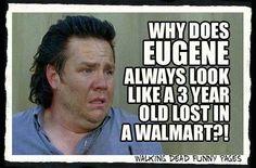 Eugene Walking Dead Show, Walking Dead Quotes, Walking Dead Funny, Fear The Walking Dead, The Walk Dead, Twd Memes, Walmart Funny, Dead Inside, Stuff And Thangs