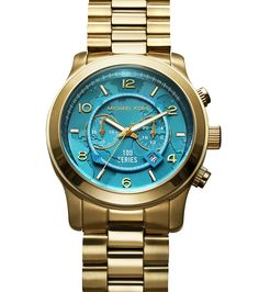 27 Genius Gift Ideas for Mother's Day 2013: Tick Tock - Give to mom and give back—for every purchase of this striking emerald and gold watch, Michael Kors will donate $25 to the United Nations World Food Programme. #gifts Watch Hunger Stop 100 Series Watch, $295, michaelkors.com