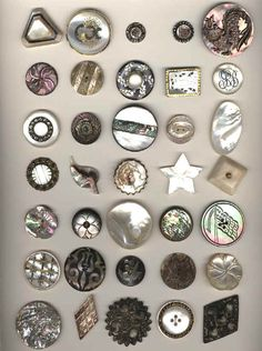 P8 Buttons & Fabrics: Buttons : Mother of Pearl