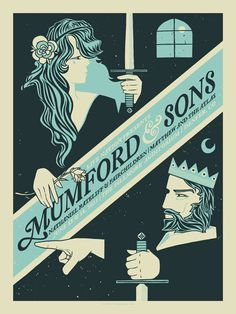 Mumford & Sons Concert Poster by THE BUNGALOO