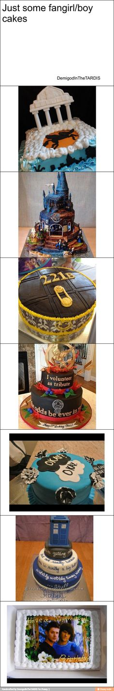 Fandom cakes ❤️can I have them? The Tfios hp and hg ones were amazing especially how the hp one had hogwarts!!!