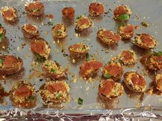 Great recipe for Pizza Potato Skin Bites. Potato skins with a pizza filling, a nice change from the always delicious traditional  bacon skins. These are made with baby red potatos so are bite size and great to serve as an appetizer. They also make a different side for meals