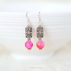 Jade earrings  Nickel free earrings  Gifts for by AnukritiDesigns