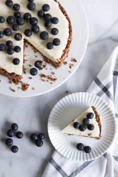 Recipe: White chocolate cheesecake w/ blueberries | Peek Inside