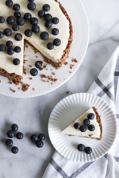 Recipe: White chocolate cheesecake w/ blueberries   Peek Inside