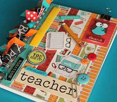 Personalized Teacher Gift/ Handmade Large Altered Owl Teacher Journal/ Classic School Days