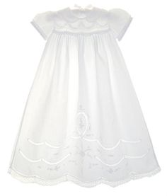 Geneva - Blessing Dresses for Infants - Astonishing detail with French lace and more. BabyBlessingBoutique.com