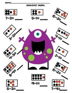 math worksheet : 1000 images about 1st grade math on pinterest  addition games  : Monster Math Worksheets