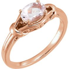 Pretty in pink! Rose morganite and gold knot ring. Style featured: 71922