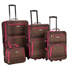pink leopard print suitcase - Google Search