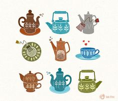 """""""Cup of Tea"""" kitchen print on Etsy"""