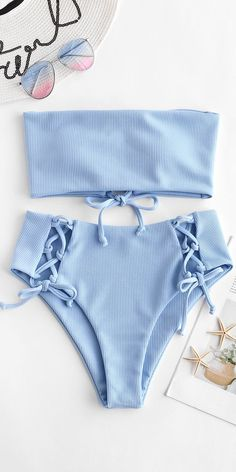 Cute baby blue bikini swimsuit for this summer For more information visit https: // fashi Bathing Suits Baby Bikini BLUE Cute Fashi https information summer Swimsuit Visit Cute Swimsuits, Women Swimsuits, Cute Bikinis, Summer Bikinis, Modest Swimsuits, Bikinis For Teens, Vintage Swimsuits, Summer Bathing Suits, Girls Bathing Suits