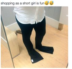 Trying to buy pants. Any kind of pants. At any store. | 21 Photos Short Girls Will Definitely Relate To